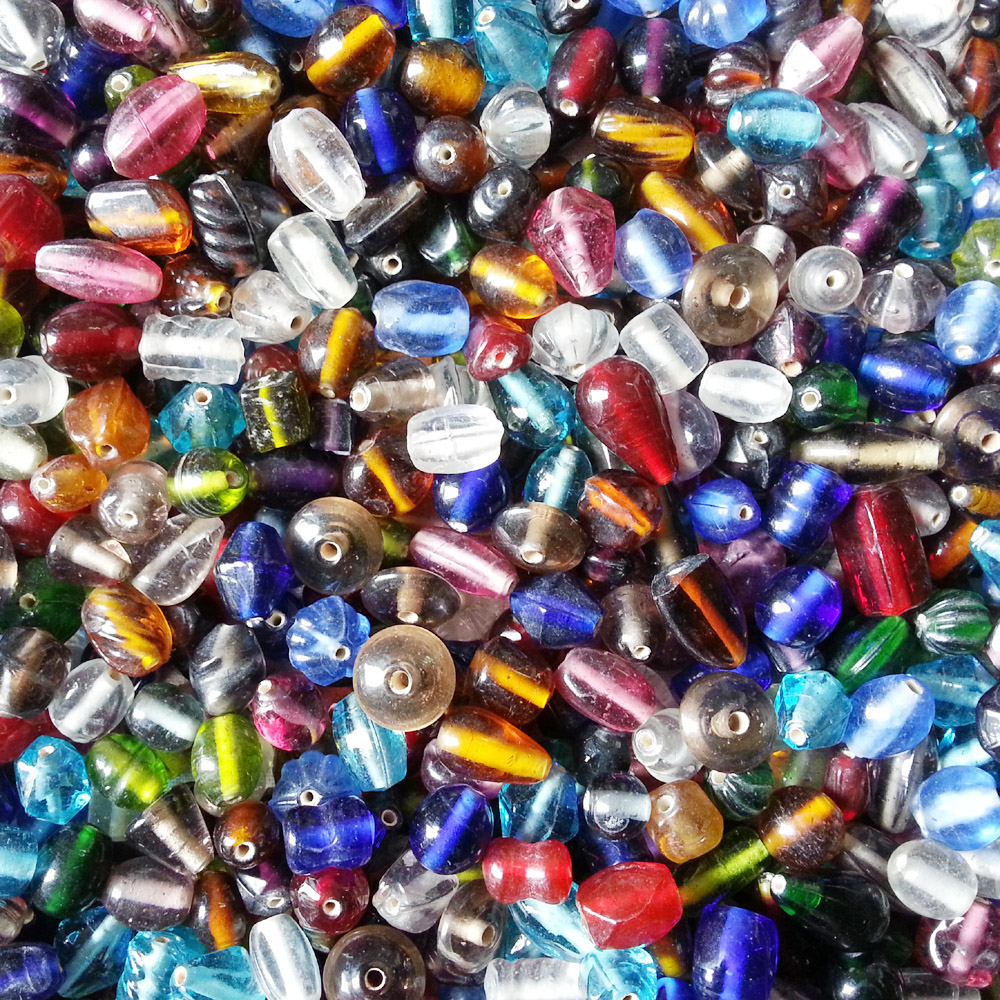 glass beads - all sorts mix KG - 16001 x 1KG